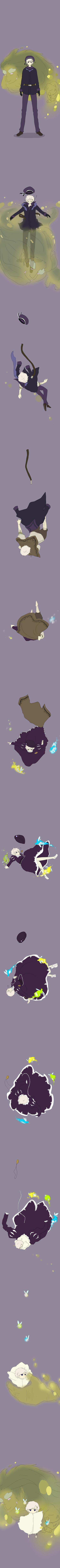 Tags: Anime, Sira, Axis Powers: Hetalia, Norway, Troll, Age Progression, Fanart, Nordic Countries