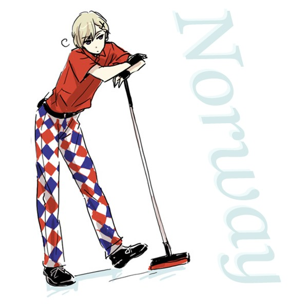 Tags: Anime, Neghy, Axis Powers: Hetalia, Norway, Curling, Cross Clip, Fanart, Olympics, Pixiv, Nordic Countries