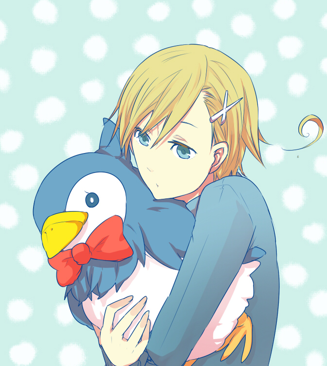 Tags: Anime, Pixiv Id 671979, Axis Powers: Hetalia, Norway, Mr. Puffin, Puffin, Cross Clip, Fanart, Pixiv, Nordic Countries