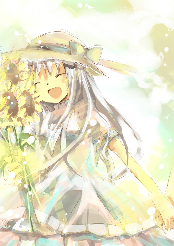 Tags: Anime, KEY (Studio), Sunflower, Noumi Kudryavka, Little Busters!, Yellow Flower, Mikimura