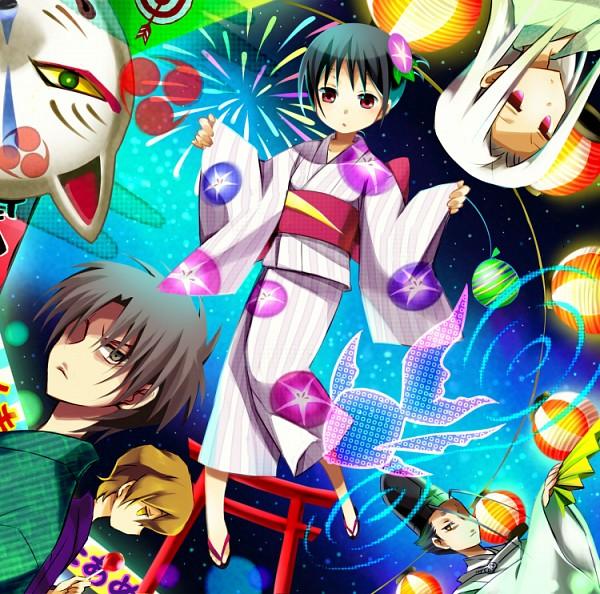 Tags: Anime, Aosa, Nurarihyon no Mago, Keikain Hidemoto, Keikain Ryuuji, Keikain Yura, Keikain Akifusa