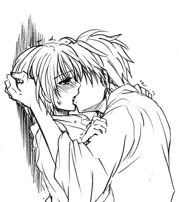 Anime Couples Kissing Drawings Anime Collection