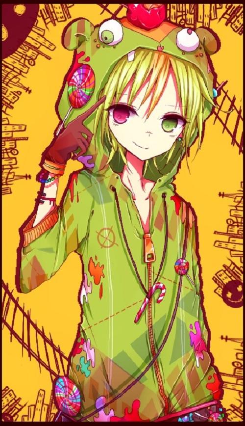 Tags: Anime, Saiban In Seido, Happy Tree Friends, Nutty, Food On Head, Object On Head, Fanart, Matryoshka, Mobile Wallpaper
