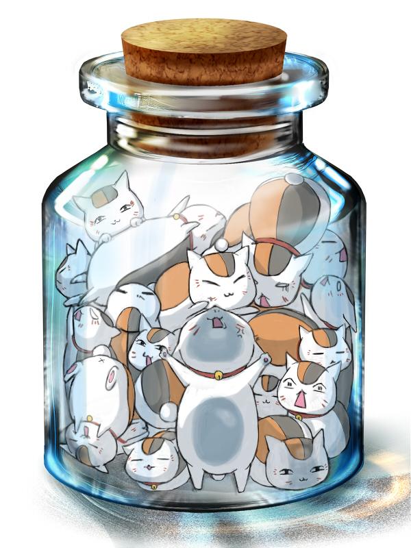 Tags: Anime, Pixiv Id 746095, Natsume Yuujinchou, Nyanko-sensei, In a Bottle, Pixiv Bottle, Pixiv, Wallpaper, Fanart