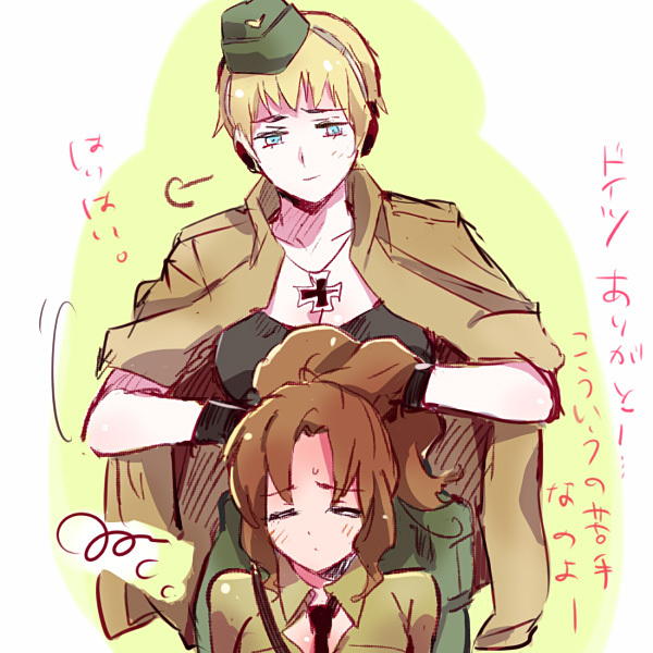 Tags: Anime, R (Corolla), Axis Powers: Hetalia, North Italy (Female), Germany (Female), Nyotalia, Axis Power Countries, Mediterranean Countries