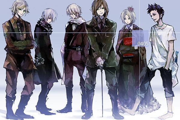 Tags: Anime, Hoka, Axis Powers: Hetalia, Belarus (Male), Ukraine (Male), Hungary (Male), Belgium (Male), Seychelles (Male), Liechtenstein (Male), Pixiv, Nyotalia, Fanart, Allied Forces
