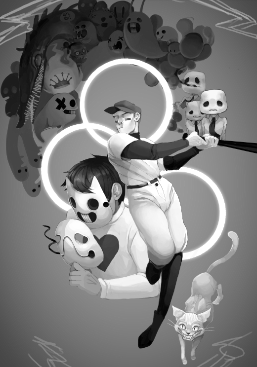Tags: Anime, Crazyrainbowstars, OFF (Game), Add-on (OFF), The Judge (OFF), Zacharie, The Batter, Tumblr, Fanart, Mobile Wallpaper