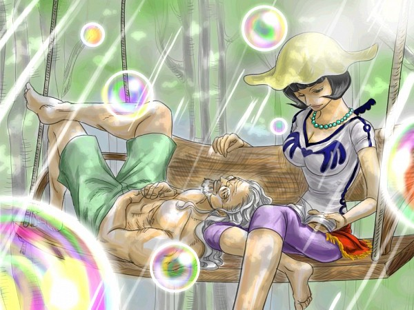 Tags: Anime, Pixiv Id 2453791, ONE PIECE, Silvers Rayleigh, Shakky, Elderly, Bubble