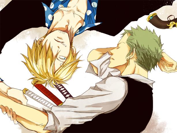 Tags: Anime, Milk (Pixiv1622971), ONE PIECE, Strong World, Roronoa Zoro, Sanji, Fanart, Pixiv, ZoSan