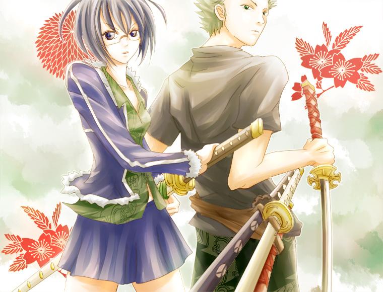 Zoro And Tashigi ONE PIECE/#416551 - Ze...