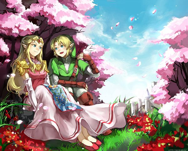 Tags: Anime, Muse (Rainforest), Ocarina of Time, Zelda no Densetsu, Link (Toki no Ocarina), Princess Zelda, Link