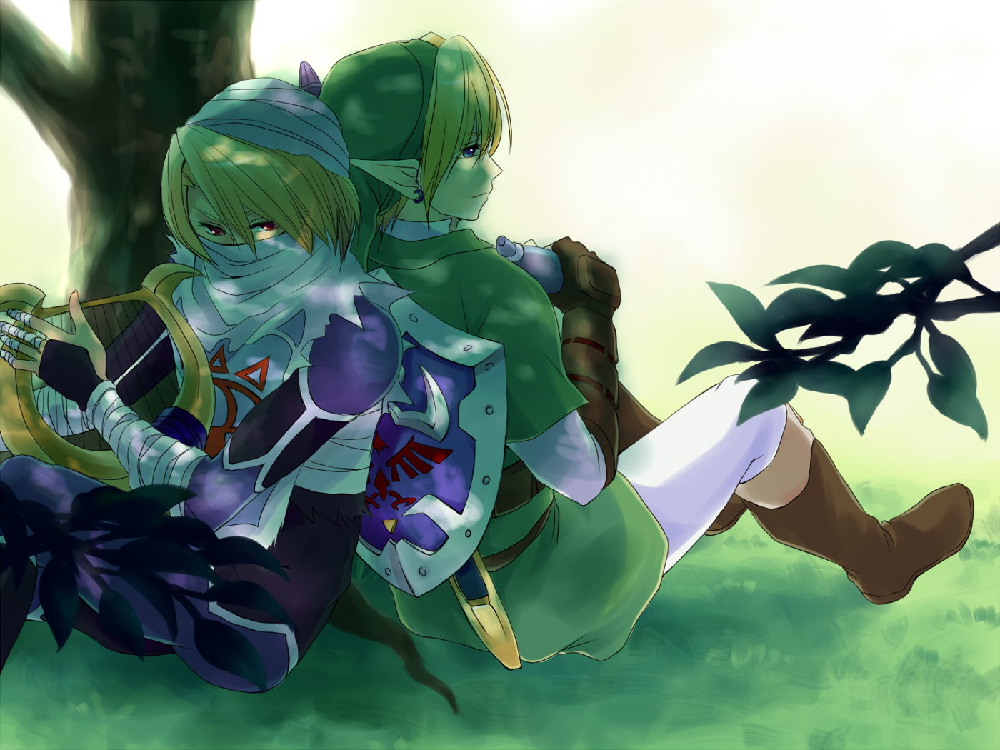 link and sheik wallpaper - photo #2