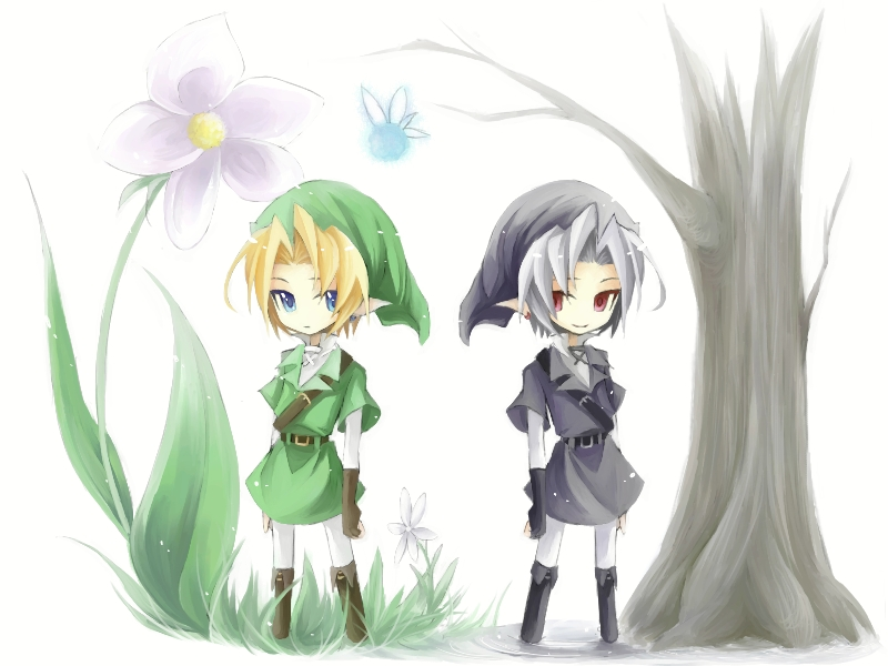 zelda ocarina link dark chibi anime legend densetsu navi zerochan semi fanart toki pixiv