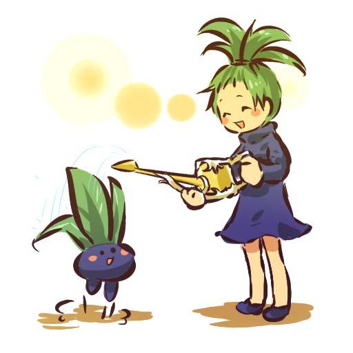 Tags: Anime, Hitec, Pokémon, Oddish, Pineapple Head, Watering Can