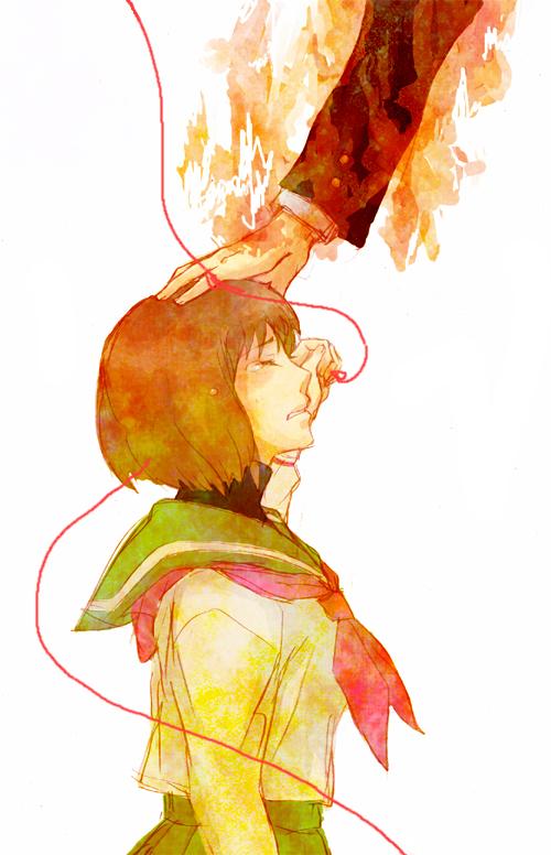 Tags: Anime, Pixiv Id 2112266, Mawaru Penguindrum, Oginome Ringo, Arms, School Uniform (Mawaru Penguindrum)