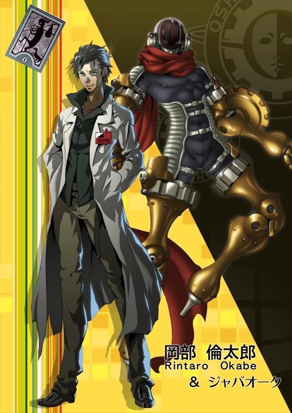 Tags: Anime, Banjoo, Steins;Gate, Okabe Rintarou, Persona (Parody), Mobile Wallpaper, Pixiv
