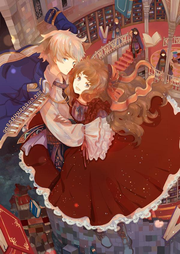 Tags: Anime, Okazaki Oka, Library, Pixiv, Mobile Wallpaper