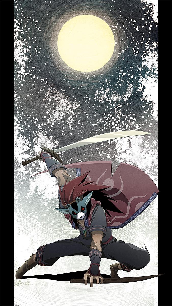 Tags: Anime, Pixiv Id 219970, Okami, Okikurumi, Animal Mask, Mobile Wallpaper