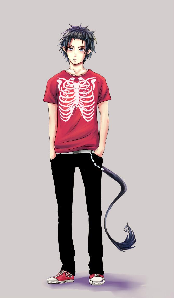 Tags: Anime, Akaitamashi, Ao no Exorcist, Okumura Rin, Converse, Mobile Wallpaper, deviantART