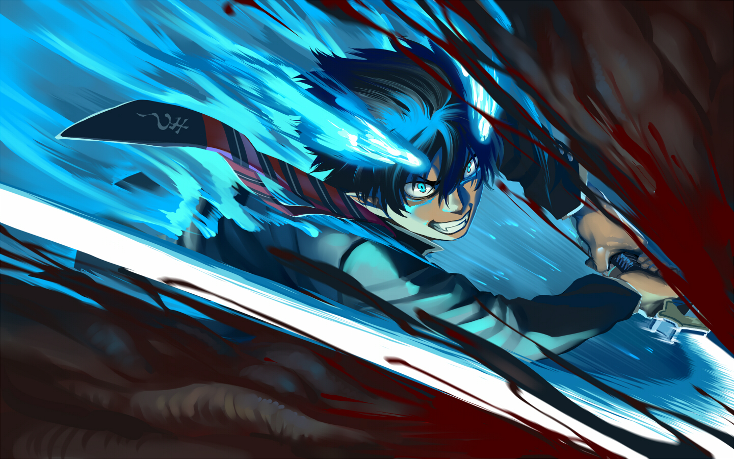 Okumura Rin - Ao no Exorcist - Wallpaper #741897 ...