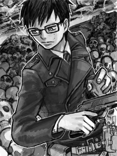 Tags: Anime, Ypyp, Ao no Exorcist, Okumura Yukio, Sketch, PNG Conversion