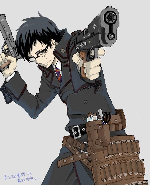 Tags: Anime, Sayupon, Ao no Exorcist, Okumura Yukio, Dual Guns, Pixiv, Fanart