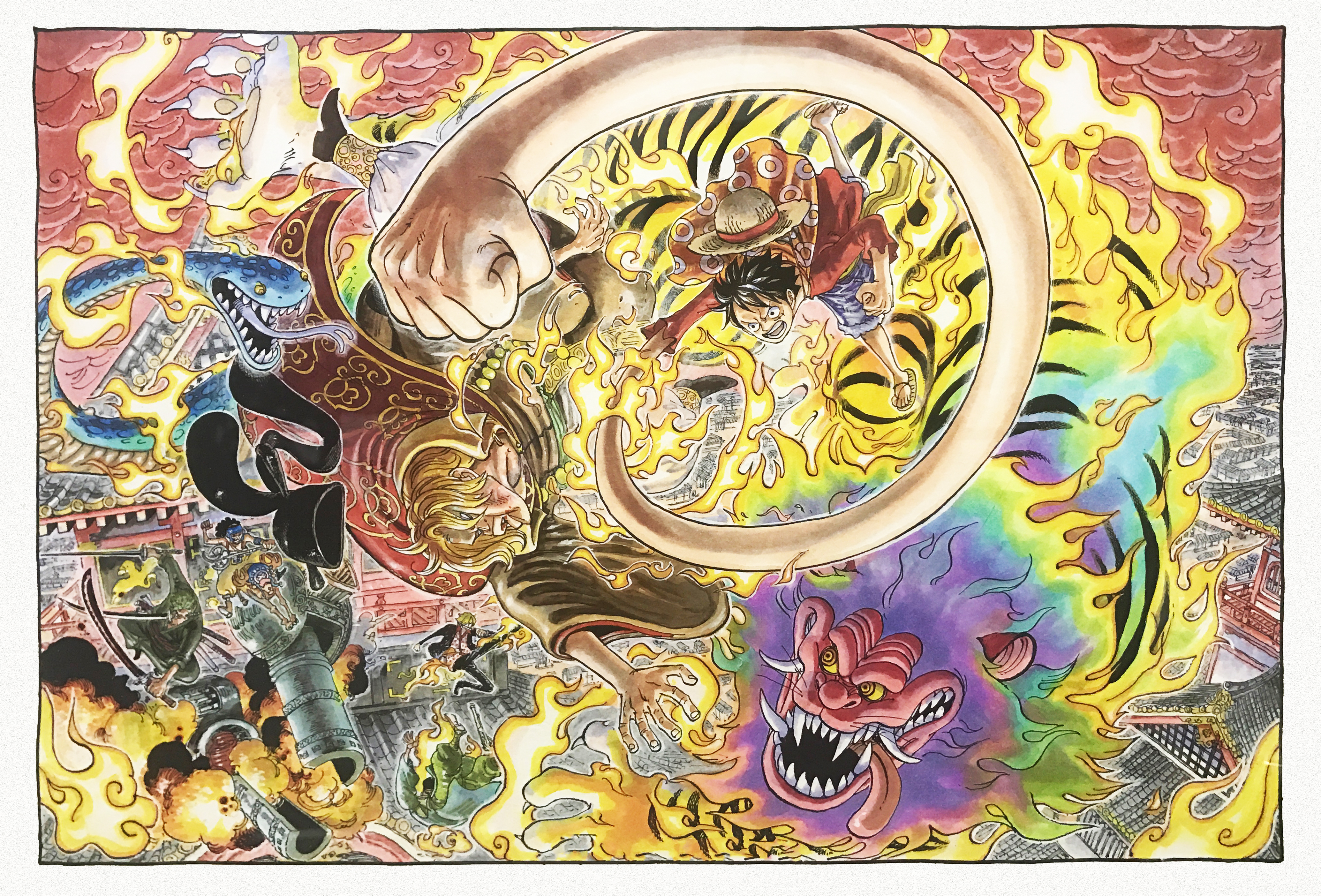 Wallpaper One Piece Zoro Wano
