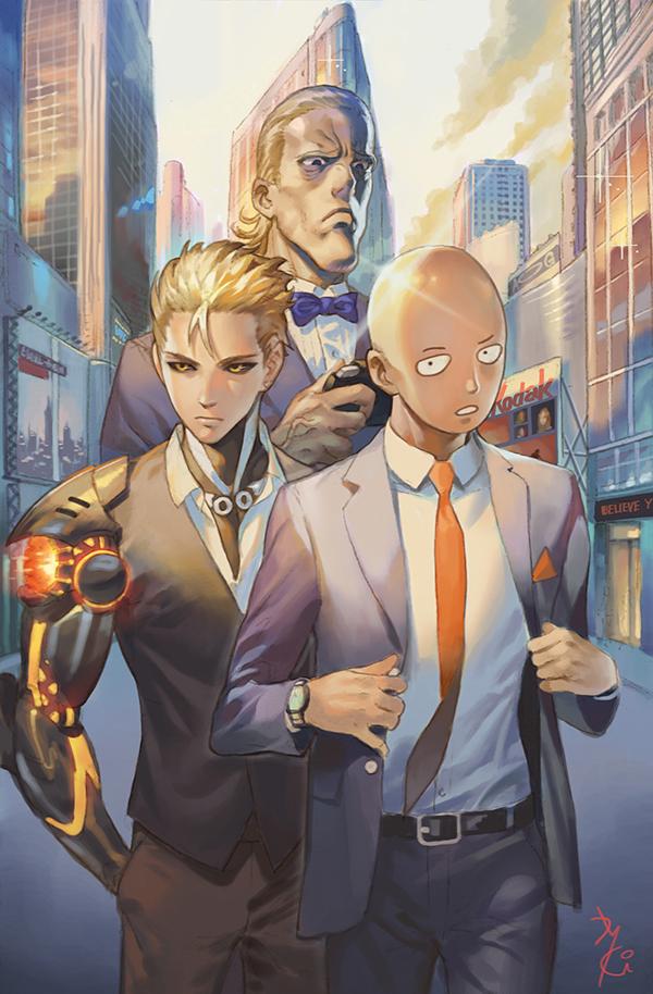 Genos One Punch Man Mobile Wallpaper Zerochan Anime Image Board