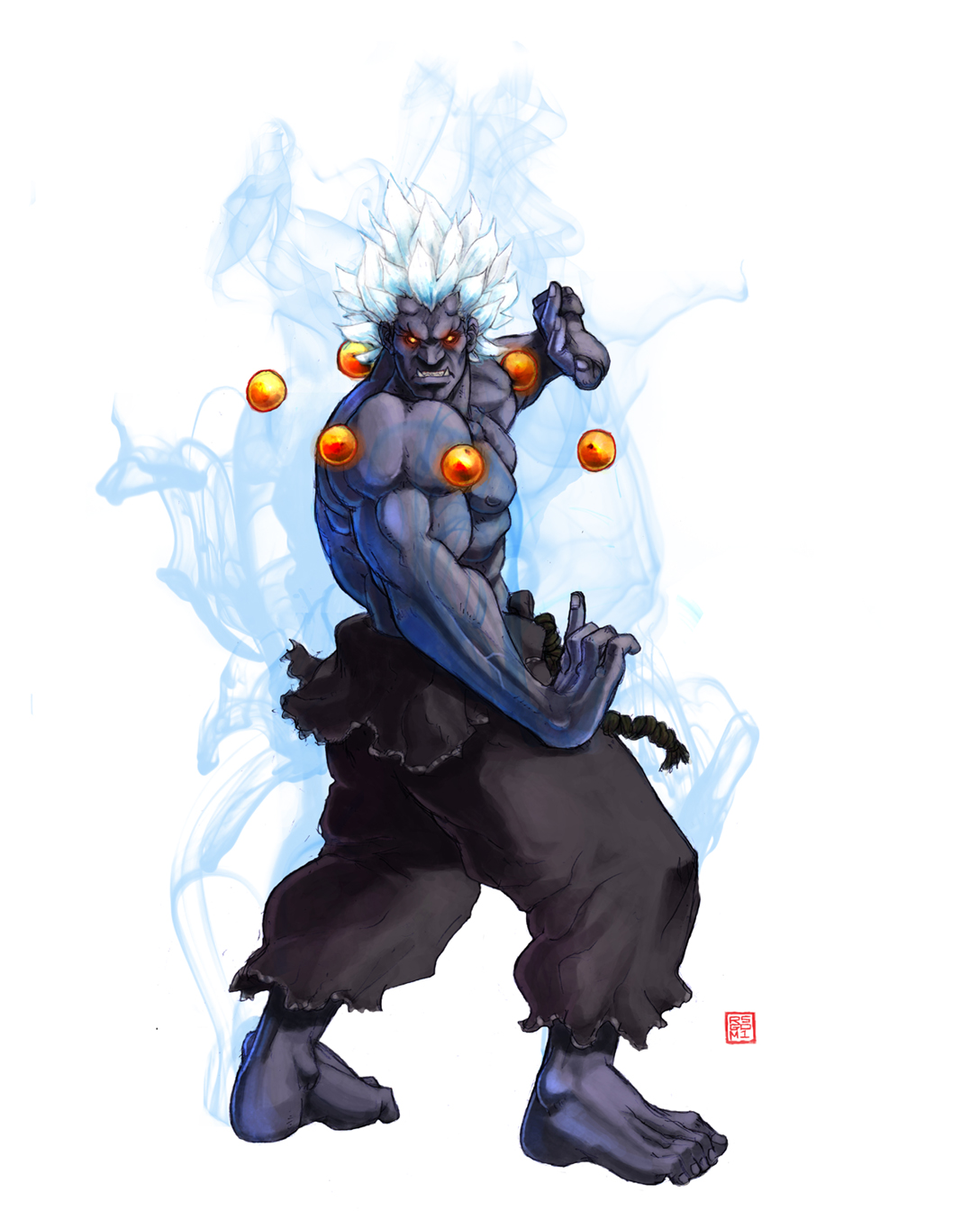Anime Characters Fight Wiki : Oni street fighter zerochan anime image board