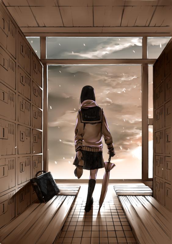 Tags: Anime, Onigunsou, Locker Room, Pixiv, Original, Mobile Wallpaper