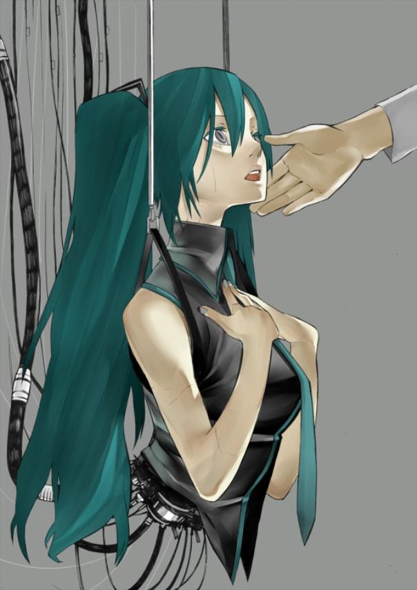 Tags: Anime, Onigunsou, VOCALOID, Hatsune Miku, Pixiv, Mobile Wallpaper