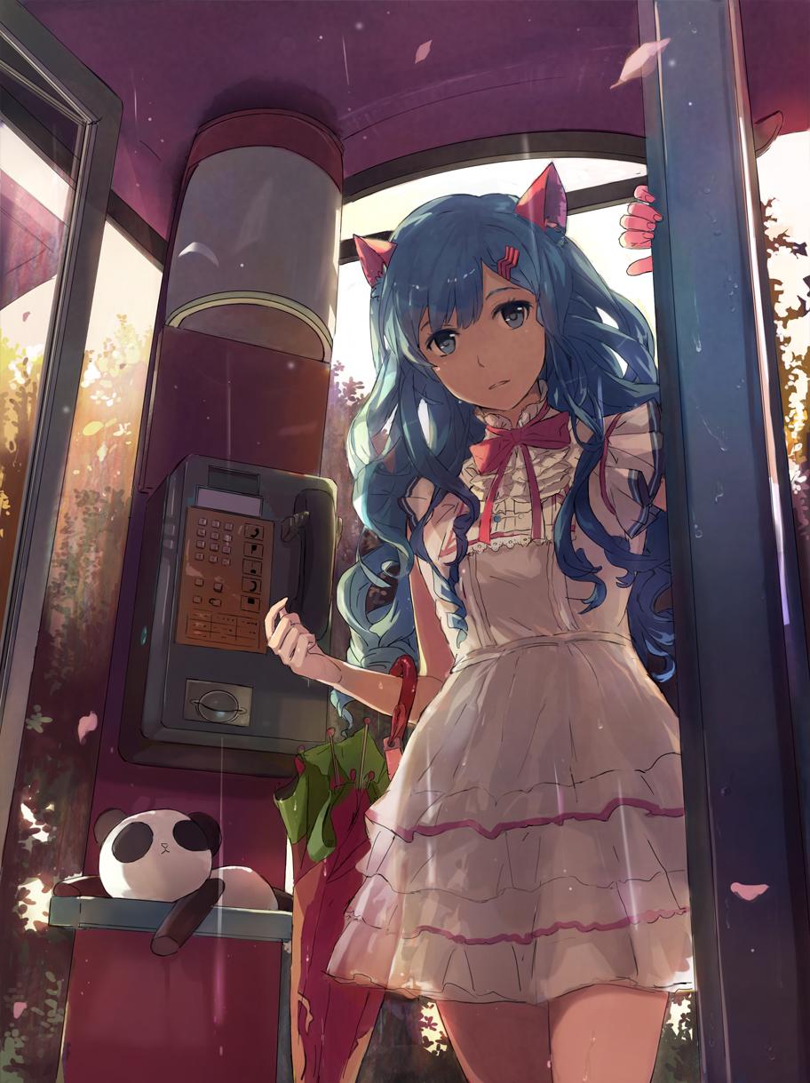 Ooi choon liang image 1608556 zerochan anime image board - Anime girl on phone ...