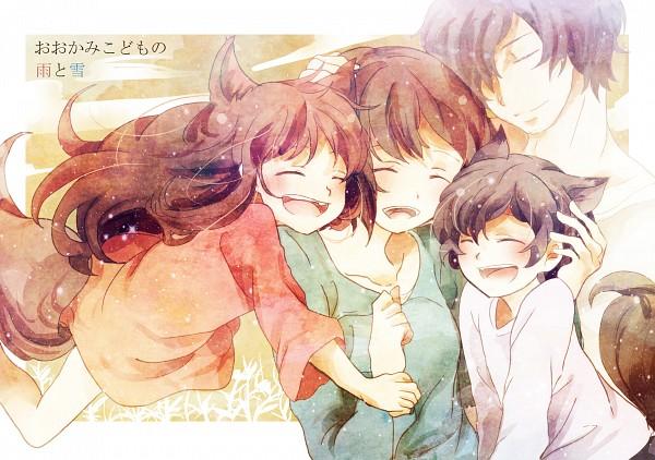 Tags: Anime, Rio (Pixiv2011923), Ookami Kodomo no Ame to Yuki, Hana (Ookami Kodomo), Ookami Otoko, Ame (Ookami Kodomo), Yuki (Ookami Kodomo)