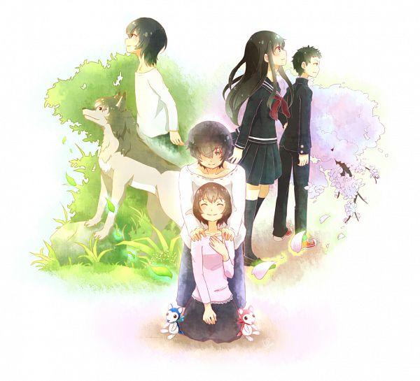 Tags: Anime, Pixiv Id 1670248, Ookami Kodomo no Ame to Yuki, Hana (Ookami Kodomo), Souhei (Ookami Kodomo), Ookami Otoko, Ame (Ookami Kodomo)
