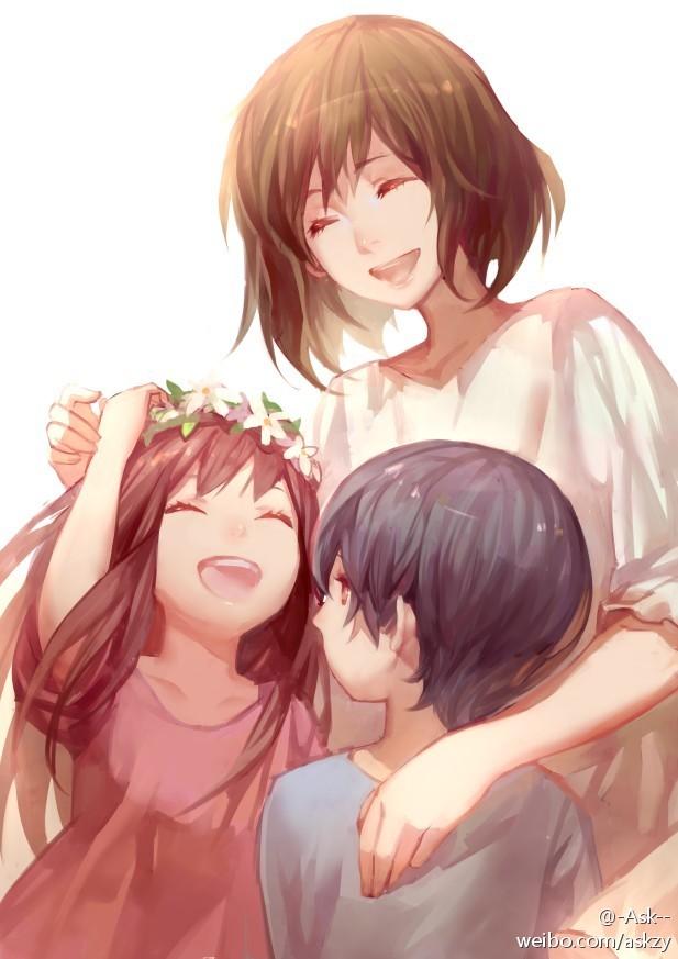 Tags: Anime, Asukaziye, Ookami Kodomo no Ame to Yuki, Yuki (Ookami Kodomo), Hana (Ookami Kodomo), Ame (Ookami Kodomo), Mother And Daughter