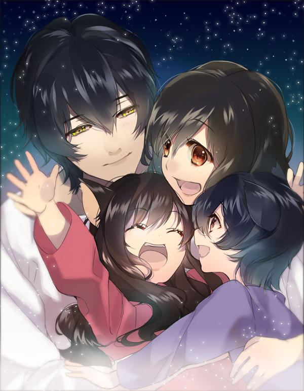 Tags: Anime, Pixiv Id 521224, Ookami Kodomo no Ame to Yuki, Ookami Otoko, Ame (Ookami Kodomo), Yuki (Ookami Kodomo), Hana (Ookami Kodomo), Fanart From Pixiv, Pixiv, Fanart, The Wolf Children Ame And Yuki