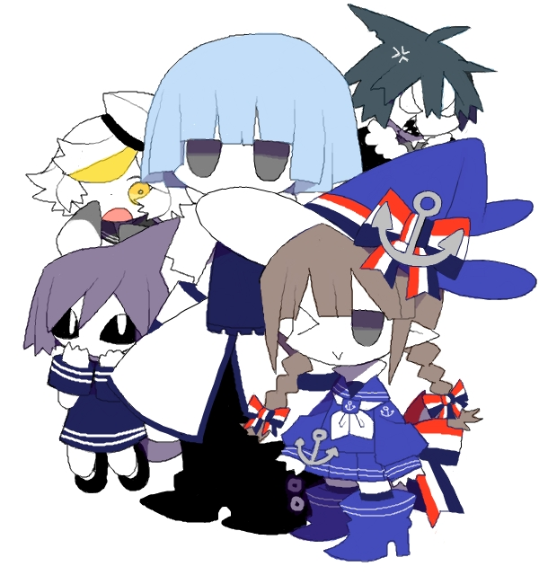 Tags: Anime, Mogeko (Okegom), Oounabara to Wadanohara, Samekichi, Fukami, Wadanohara, Dolphi, Memoca, Anchor, Wadanohara And The Great Blue Sea