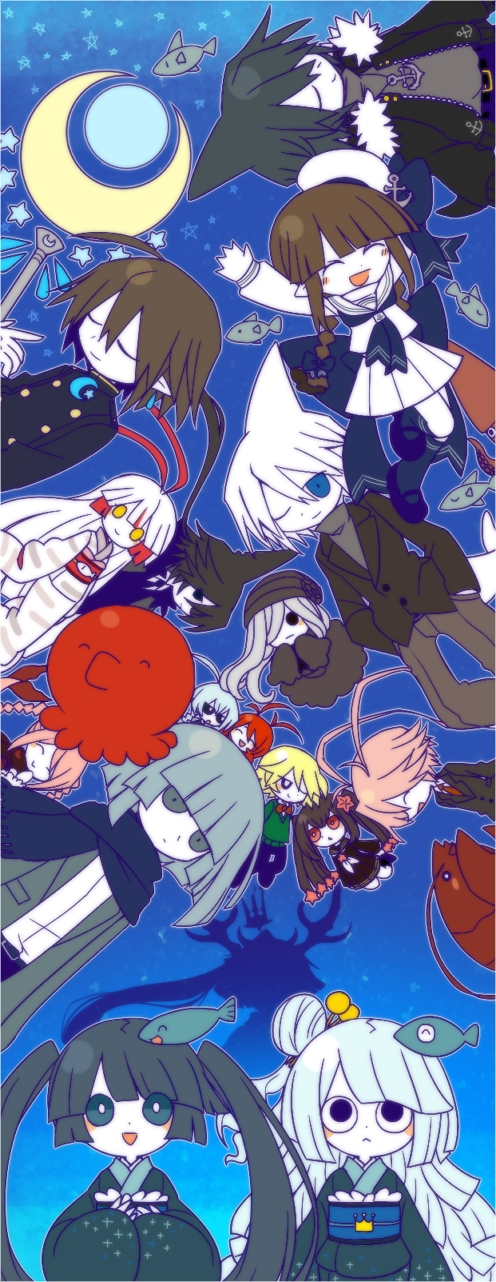 Tags: Anime, Mogeko (Okegom), Oounabara to Wadanohara, Lobco, Fukami, Stella (Wadanohara), Lord Meikai, Wadanohara, Tsuribari, Sal (Wadanohara), Princess Mikotsu, Tatsumiya (Wadanohara), Princess Uomi, Wadanohara And The Great Blue Sea