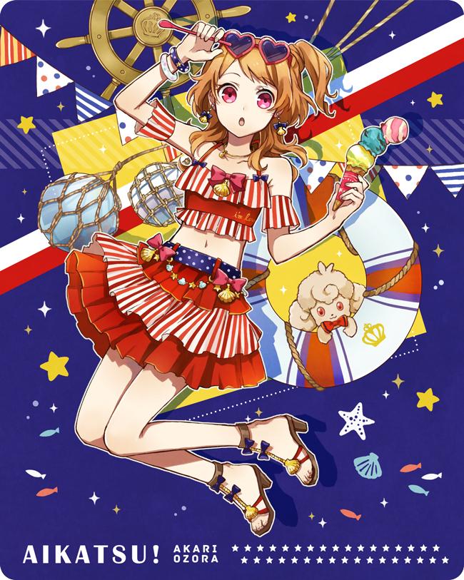 Tags: Anime, Buzz, Aikatsu!, Oozora Akari, Symbol-Shaped Glasses, Heart-shaped Glasses, Fanart From Pixiv, Pixiv, Fanart, Akari Oozora
