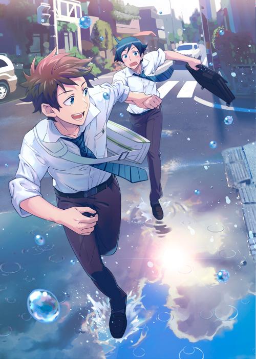 Tags: Anime, Jumping Dogeza, Ore no Imouto ga Konna ni Kawaii Wake ga Nai, Akagi Kouhei, Kousaka Kyousuke, Down Town, Rushing, Mobile Wallpaper, My Little Sister Can't Be This Cute