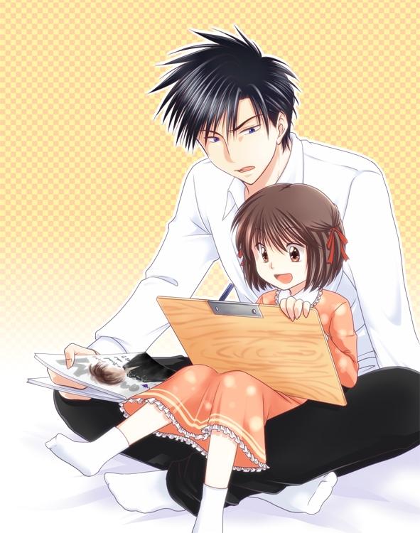 Tags: Anime, Pixiv Id 433167, Oresama Teacher, Kurosaki Mafuyu, Saeki Takaomi, Painting (Action), Fanart From Pixiv, Pixiv, Fanart