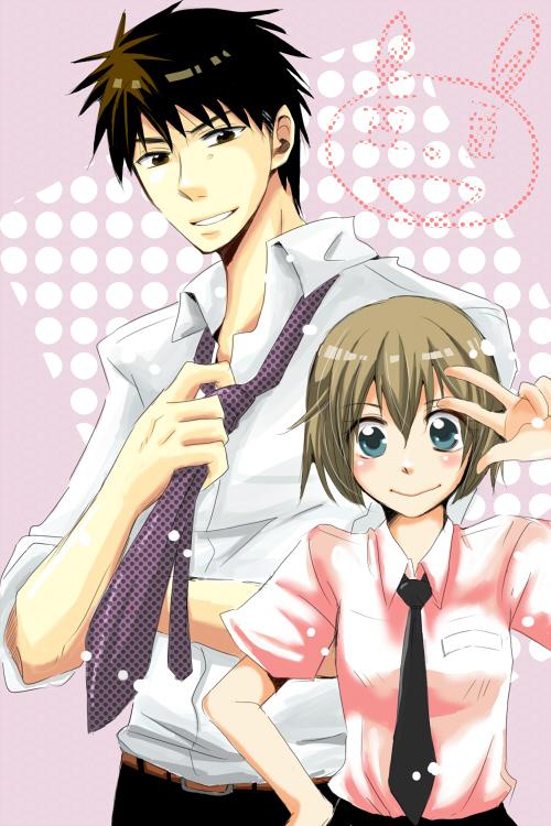 Tags: Anime, Pixiv Id 1802856, Oresama Teacher, Saeki Takaomi, Kurosaki Mafuyu, Mobile Wallpaper