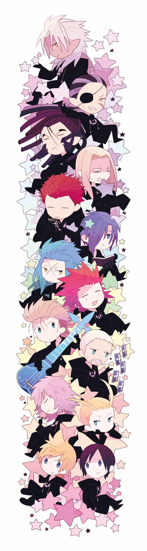 Tags: Anime, Kingdom Hearts 358/2 Days, Kingdom Hearts, Kingdom Hearts II, Demyx, Saïx, Xemnas, Roxas, Lexaeus, Marluxia, Vexen, Axel (Kingdom Hearts), Larxene