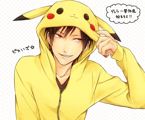 Tags: Anime, Pasta69, DURARARA!!, Orihara Izaya, Pikachu (Cosplay), Pokémon (Cosplay), Pixiv, PNG Conversion, Fanart, Izaya Orihara