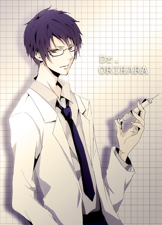 Tags: Anime, Maine, DURARARA!!, Orihara Izaya, Syringe, Doctor, Fanart, Mobile Wallpaper, Pixiv, Izaya Orihara