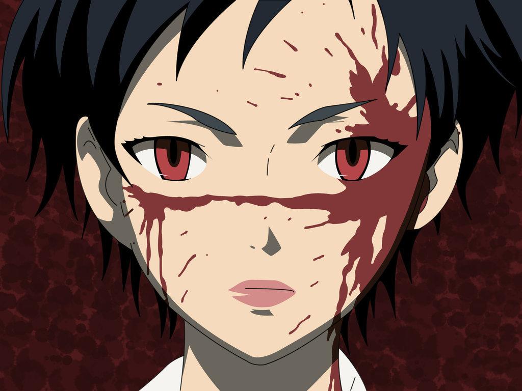 Сая из аниме кровь картинки