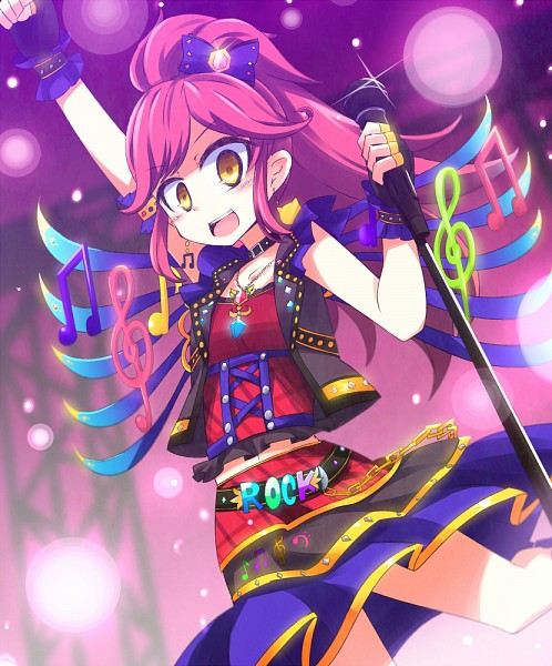 Tags: Anime, Music, Microphone, Fingerless Gloves, Music Note, Microphone Stand, Black Gloves