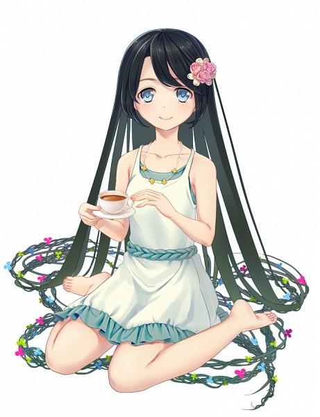 Tags: Anime, Otosume Ruiko, Tea, Drinks, Summer Dress
