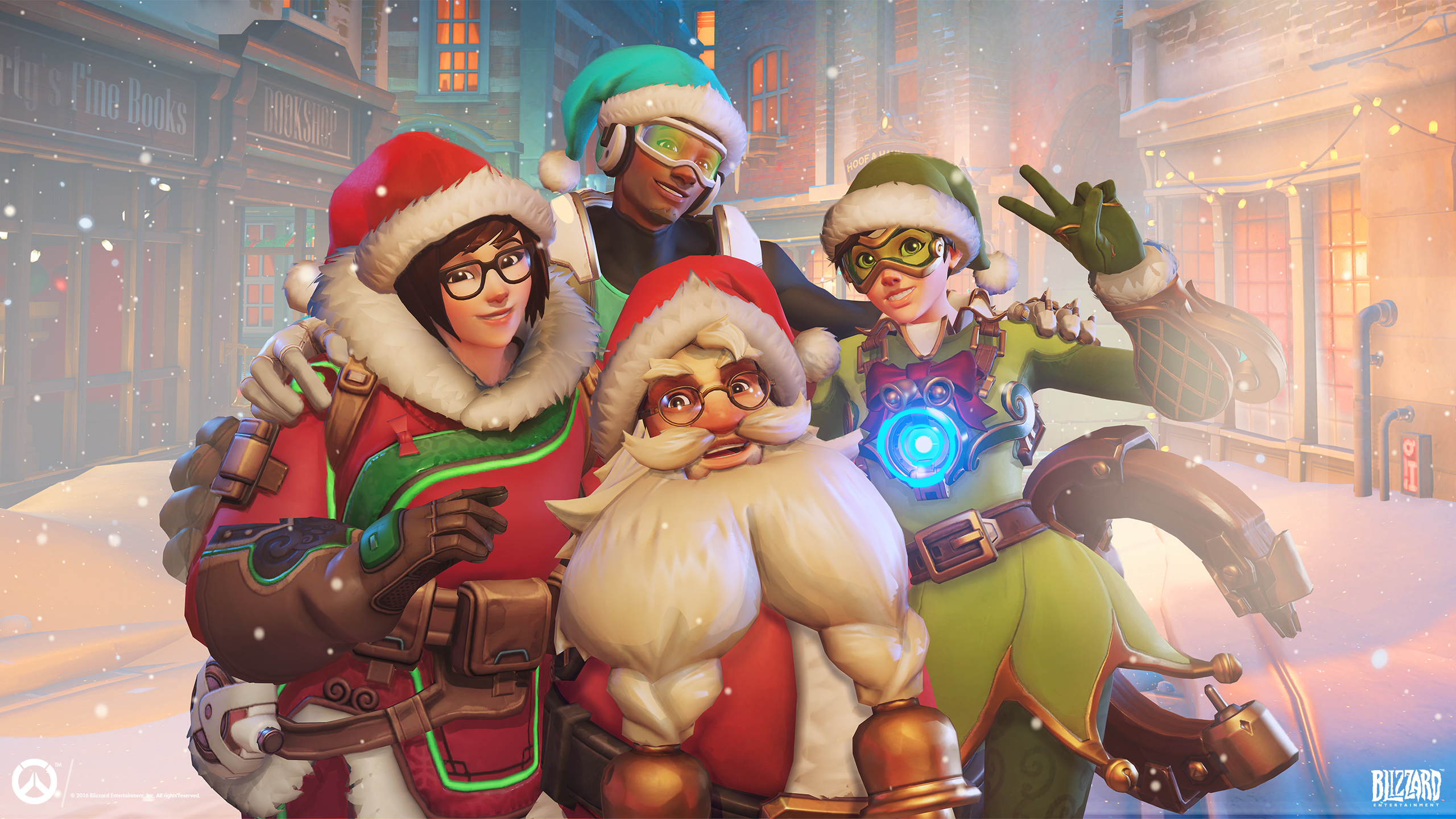 Overwatch wallpaper 2179391 zerochan anime image board - Overwatch christmas wallpaper ...