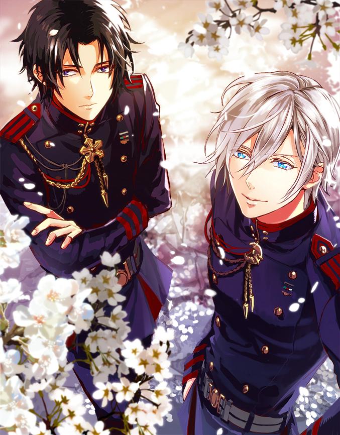 Tags: Anime, Pixiv Id 4189568, Owari no Seraph, Hiiragi Shinya, Ichinose Guren, PNG Conversion, Pixiv, Seraph Of The End